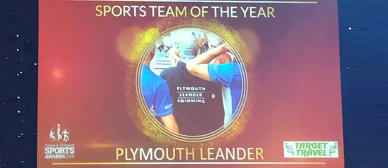 "Plymouth Leander voted ""Team of the Year"""